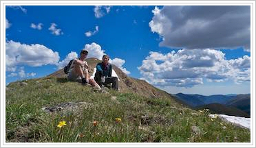 Near the summit of 13,243 foot Mt. Sniktau in Colorado